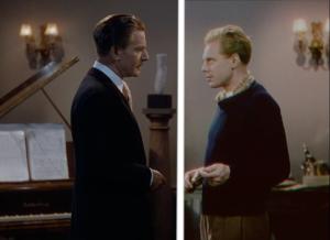 Boris Lermontov et Julian Craster face à face. Image après et avant restauration. Carlotta Films & Allerton Films