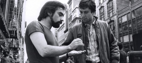 Martin Scorsese et Robert de Niro sur le tournage de Taxi Driver